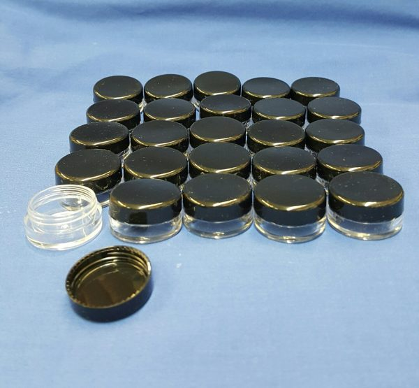 5 ml plastic Jar and Lid – 25 pack
