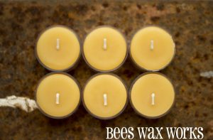 BeesWax TeaLights 6pk clear cup
