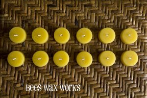 BeesWax TeaLights 12pk no cup