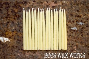 BeesWax Birthday Candles Natural 16/pk