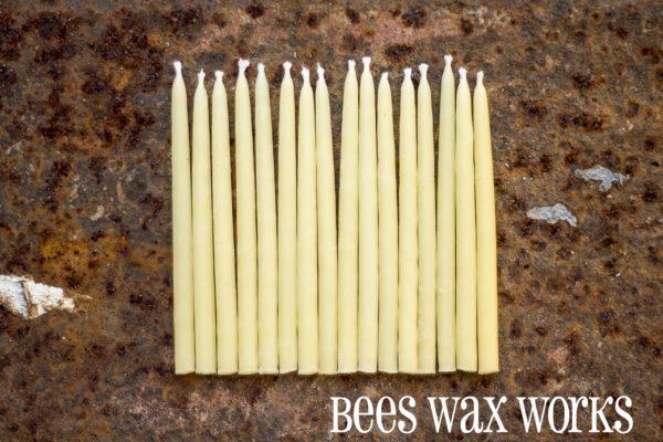 BeesWax Birthday Candles Natural 16/pk