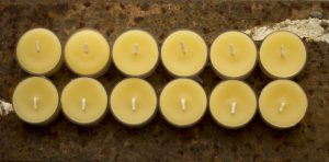 BeesWax Candles Tea Lights 12 clear cup