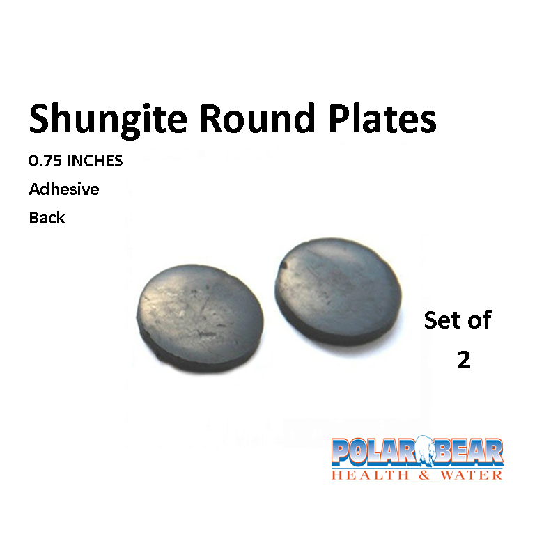 Shungite Plates Round  75 inch Adhesive