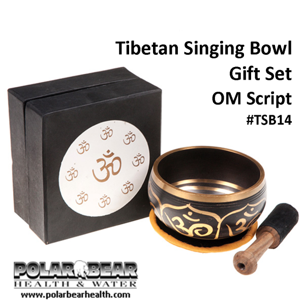 Singing Bowl Om Script TSB14