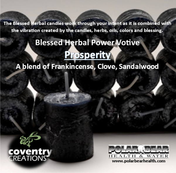 Candle Blessed Herbal - Protection - Black Votive