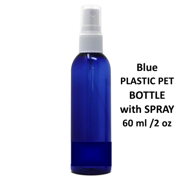 60 ml Blue PET with spray