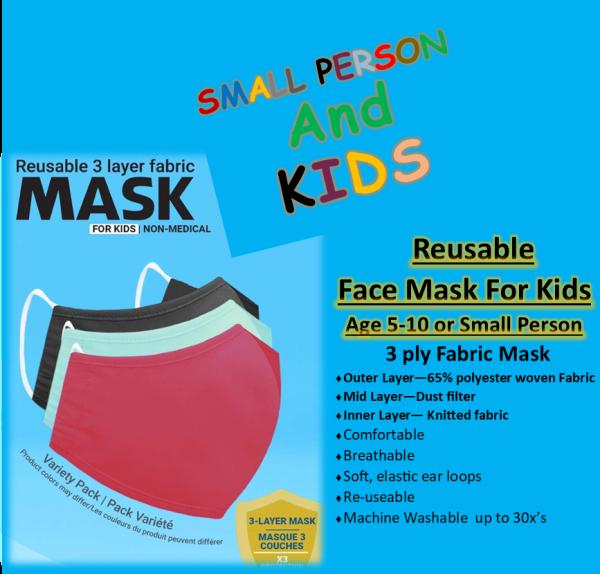 Face Masks kids 3 mulitpack